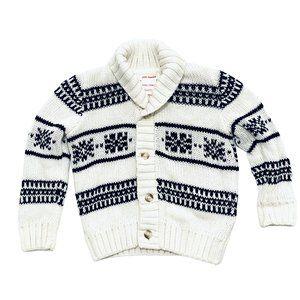 B&W Nordic Print Knit Cardigan